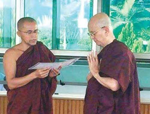 Cựu tổng thống Myanmar xuất gia tu tập trong chùa ảnh 1