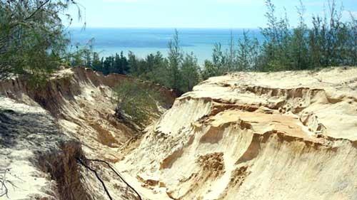 Vỡ bờ hồ chứa nước đãi titan, khu du lịch chìm trong bùn đất ảnh 2