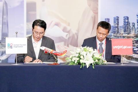 Vietjet ký kết hợp tác Tổng cục Du lịch Incheon ảnh 1