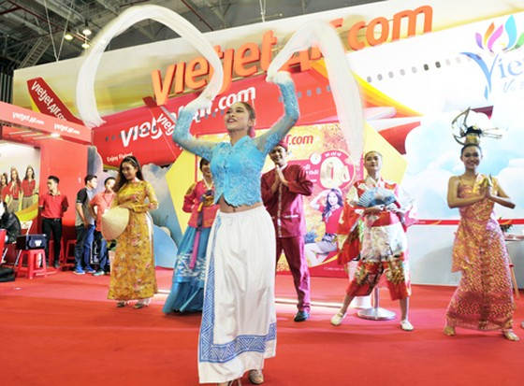 Vietjet nổi bật tại Hội chợ du lịch quốc tế TPHCM 2016 ảnh 4