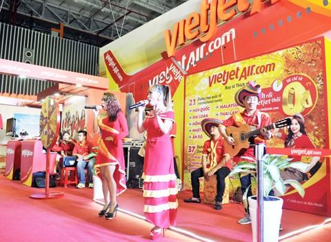 Vietjet nổi bật tại Hội chợ du lịch quốc tế TPHCM 2016 ảnh 8