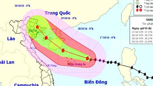 Bão số 7 cách Hoàng Sa 260km, gió giật cấp 16 ảnh 1