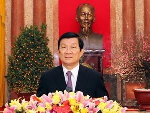 Chủ tịch nước chúc mừng Tết Quý Tỵ 2013 ảnh 1