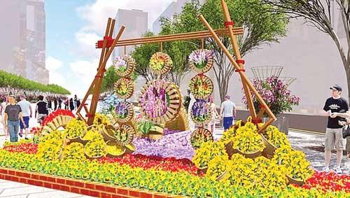Sắc màu hiện đại đường hoa truyền thống ảnh 2
