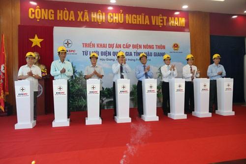 EVN SPC cấp điện cho hơn 1.800 hộ dân Hậu Giang ảnh 1