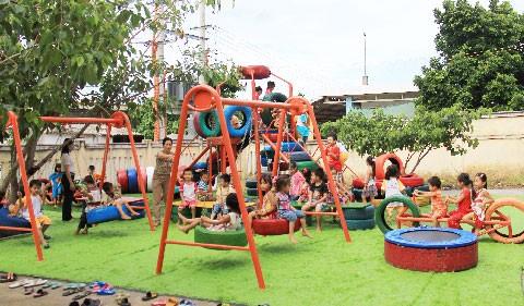 Khu vui chơi từ lốp tái chế đầu tiên tại Việt Nam ảnh 2