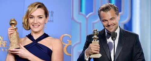Kate Winslet, Leo DiCaprio giành Quả Cầu Vàng 2016 ảnh 1