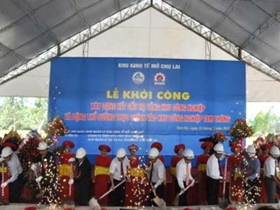 Quảng Nam: Khởi công xây dựng hạ tầng KCN Tam Thăng ảnh 1