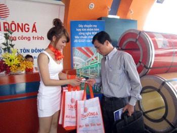 Tôn Đông Á tham gia hội chợ Vietbuild 2012 ảnh 1