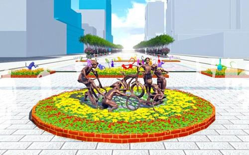 5 tác phẩm điêu khắc ở đường hoa Nguyễn Huệ ảnh 1