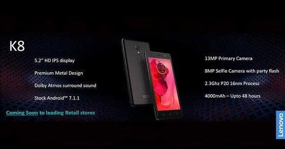 Lenovo K8 Plus với camera kép  với giá gần 5,5 triệu đồng ảnh 2