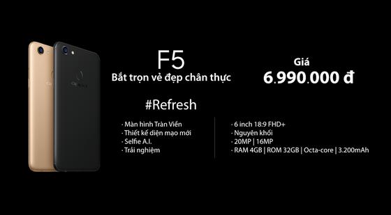 OPPO Việt Nam chính thức ra mắt  F5 hoàn toàn mới ảnh 5