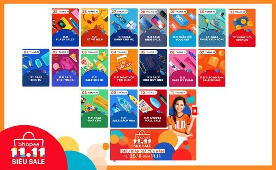 Hơn 1.111 thương hiệu tham gia vào ngày hội 11.11 Shopee  ảnh 1