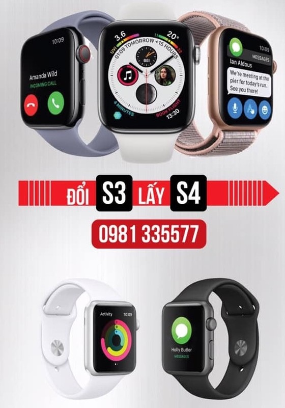Minh Tuấn Mobile thu Apple Watch S3, đổi Apple Watch S4 ảnh 1