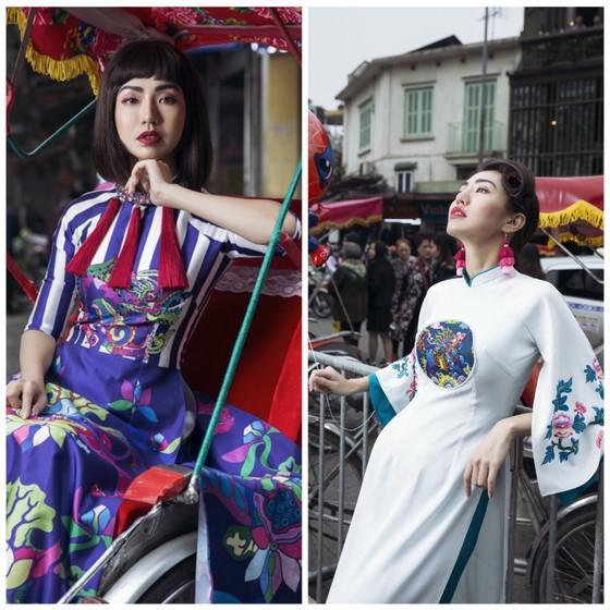 Ấn tượng với nghê Việt trên áo dài truyền thống ảnh 2