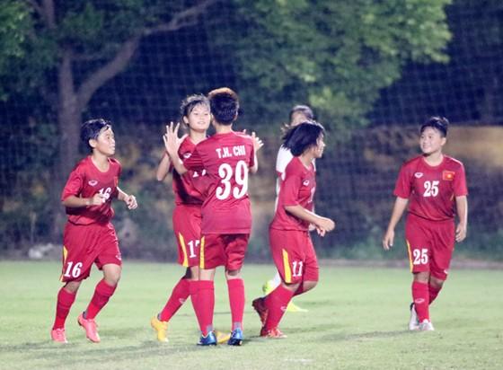 Đội U16 nữ Việt Nam khởi đầu thuận lợi. Ảnh: Đoàn Nhật
