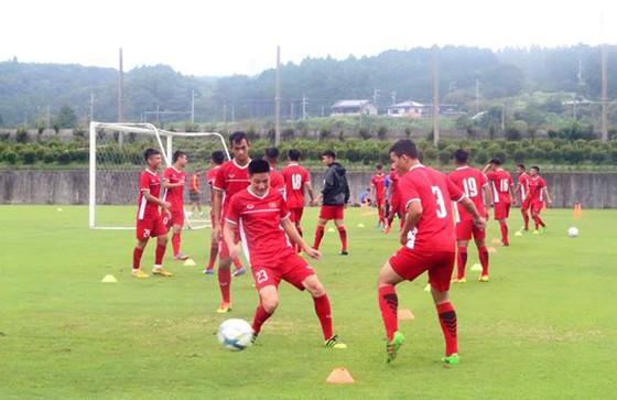 U19 Việt Nam tự tin trước giờ nhập cuộc. Ảnh: ĐOÀN NHẬT