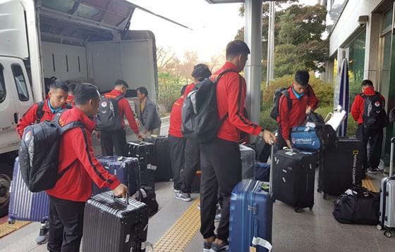 Đội tuyển Việt Nam bắt đầu chuyến tập huấn tại Hàn Quốc. Ảnh: Đoàn Nhật