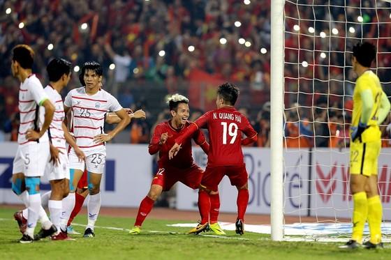 Đội tuyển Việt Nam chuẩn bị lọt vào tốp 100 thế giới. Ảnh: MINH HOÀNG