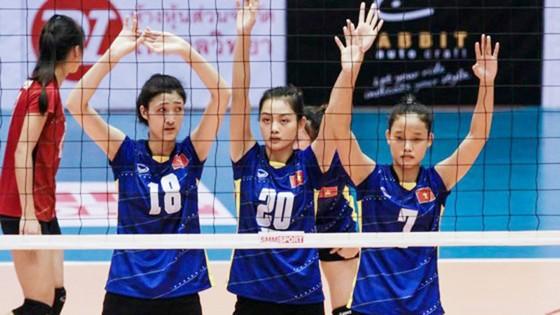 Lưu Thị Huệ (18) là phụ công triển vọng của bóng chuyền nữ Việt Nam. Ảnh: THIÊN HOÀNG