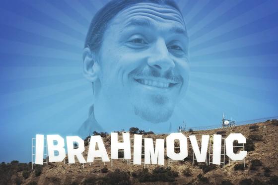 Ibrahimovic muốn trở thành một ngôi sao màn bạc. Ảnh: Bleacher Report