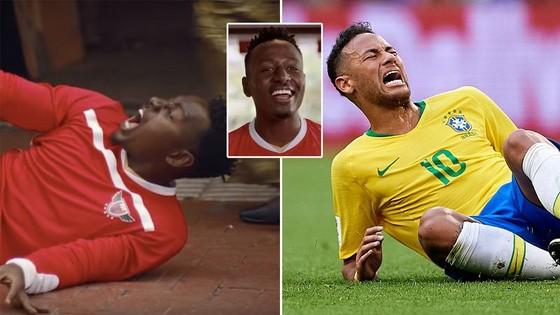 Biểu cảm của nhân vật trong quảng cáo của KFC cách đó 2 tuần làm người ta liên tưởng ngay đến ngôi sao số 10 của Brazil.