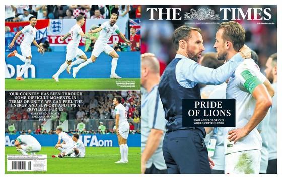 Truyền thông Anh vẫn dành lời động viên cho Tam sư. Ảnh: The Times