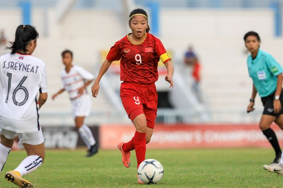 Huỳnh Như, tác giả bàn gỡ hòa 1-1 cho Việt Nam. Ảnh: Đoàn Nhật