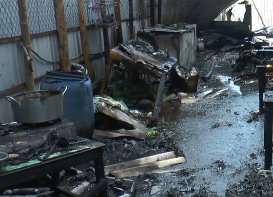 Nổ bình gas, 2 căn nhà bị thiêu rụi ở Bạc Liêu ảnh 1