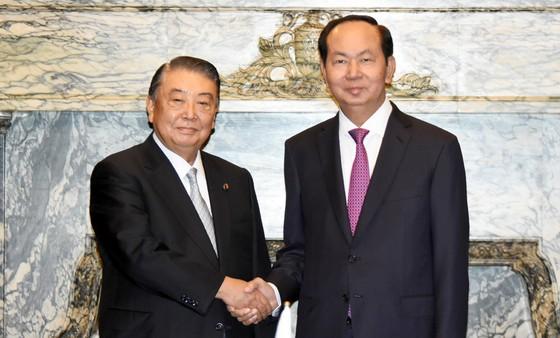 Chủ tịch nước Trần Đại Quang hội kiến với Chủ tịch Hạ viện Nhật Bản ảnh 1