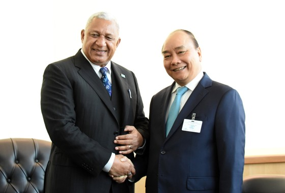Thủ tướng Nguyễn Xuân Phúc gặp gỡ Chủ tịch Đại hội đồng và Tổng Thư ký Liên hiệp quốc ảnh 3