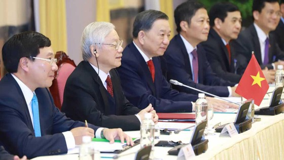 Tổng Bí thư, Chủ tịch nước Nguyễn Phú Trọng tiếp Tổng thống Donald Trump ảnh 3