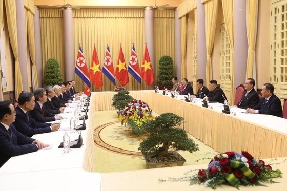 Lễ đón chính thức Chủ tịch Triều Tiên Kim Jong-un ảnh 12