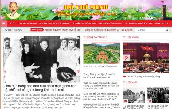 Ra mắt giao diện mới Trang thông tin điện tử Hồ Chí Minh ảnh 2