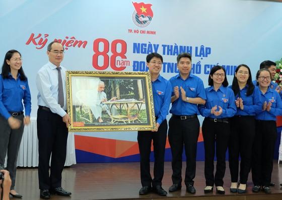 Bí thư Thành ủy TPHCM Nguyễn Thiện Nhân thăm và chúc mừng Thành đoàn TPHCM  ảnh 2