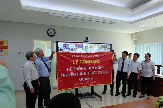 Quận 3 ra mắt hệ thống Hội nghị truyền hình trực tuyến ảnh 1