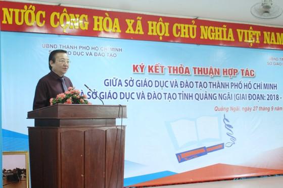Hợp tác ngành giáo dục TPHCM và tỉnh Quảng Ngãi ảnh 1
