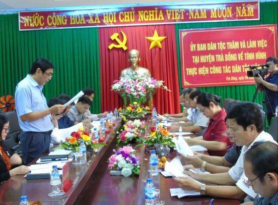 Ủy ban Dân tộc làm việc về các chính sách dân tộc tại Quảng Ngãi ảnh 1