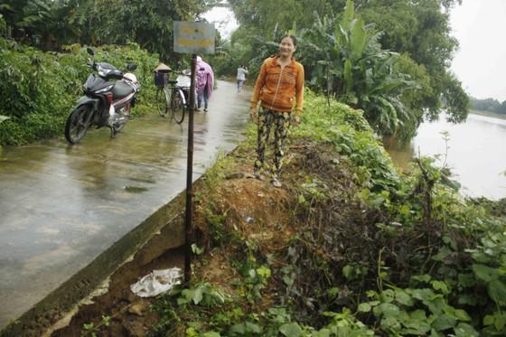 Sạt lở sông Vệ đe dọa hàng trăm hộ dân, nhiều nơi vùng núi bị cô lập ảnh 5
