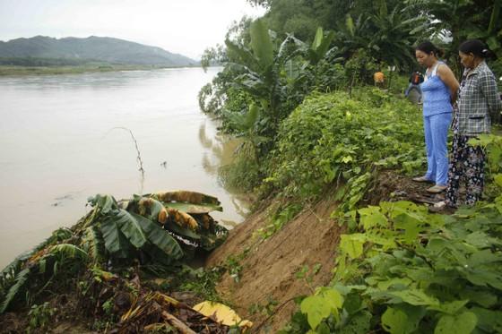 Sạt lở sông Vệ đe dọa hàng trăm hộ dân, nhiều nơi vùng núi bị cô lập ảnh 2