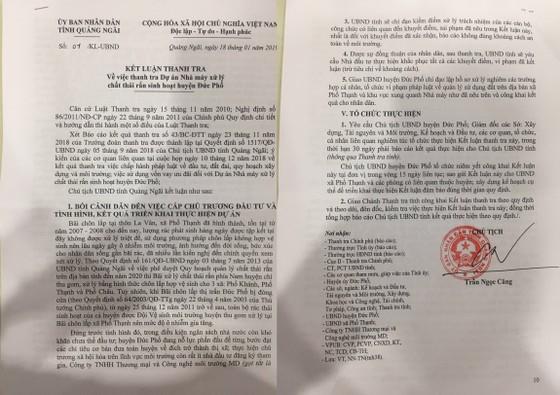 Kết luận thanh tra Dự án Nhà máy rác Sa Huỳnh ảnh 1