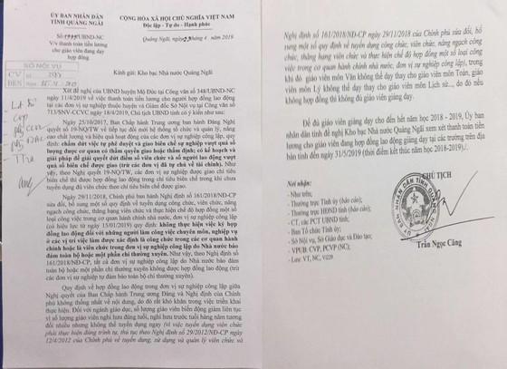 Đề nghị Kho bạc Nhà nước Quảng Ngãi mở thanh toán lương hợp đồng cho giáo viên ảnh 1