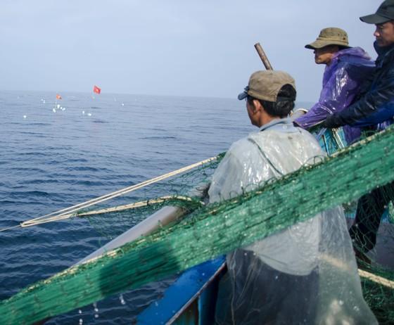 Neo tàu trên vùng nước cạn ở quần đảo Hoàng Sa để trụ bão và bám đảo ảnh 1