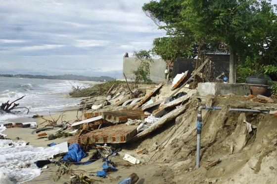 Quảng Ngãi: Hàng chục nhà dân bị sóng biển đánh sập ảnh 5