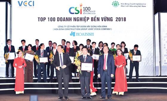 Công ty CP Tập đoàn Xây dựng Hòa Bình nhận giải thưởng Doanh nghiệp bền vững năm 2018 ảnh 1