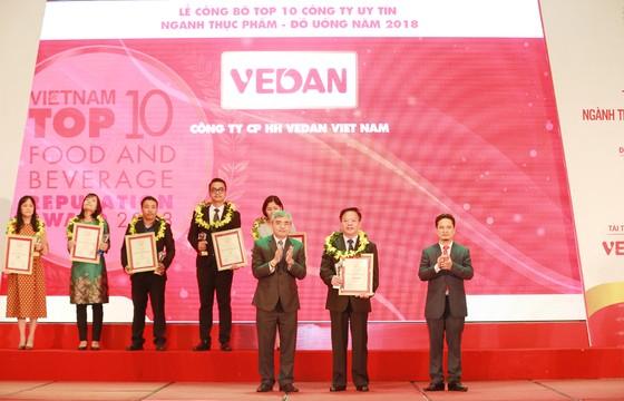 Vedan Việt Nam được vinh danh trong top 10 công ty uy tín ngành thực phẩm - đồ uống năm 2018 ảnh 1