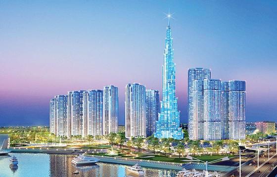Cất nóc tòa nhà The Landmark 81 tầng, cao nhất Việt Nam ảnh 1