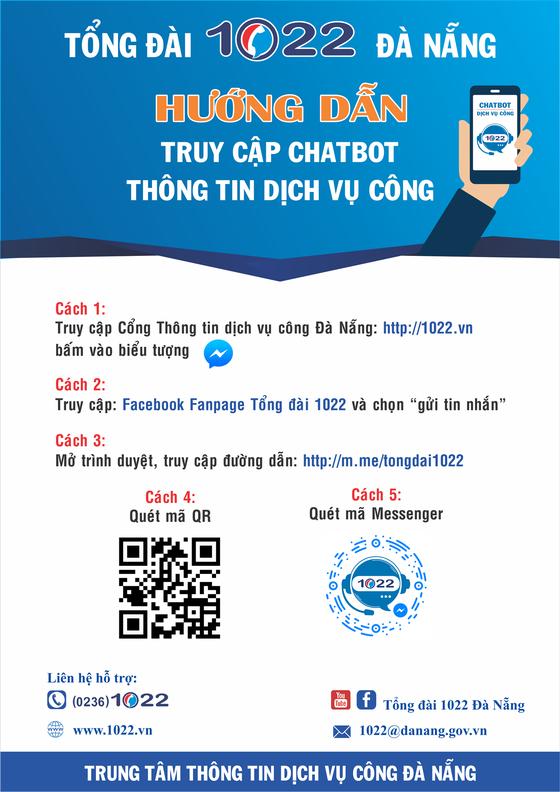 Đà Nẵng ứng dụng thí điểm chatbot trong cung cấp thông tin dịch vụ công ảnh 1