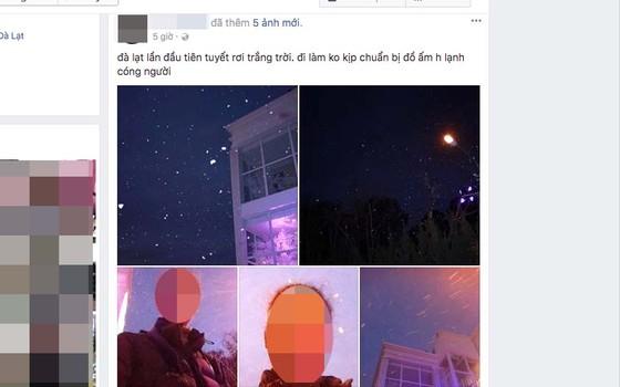Sẽ xử lý người phát tán thông tin Đà Lạt có tuyết rơi ảnh 1