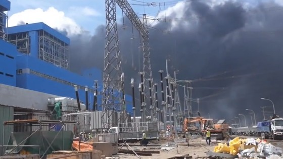 Cháy tại dự án Nhà máy Nhiệt điện Duyên Hải 3 ảnh 1